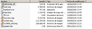 Archivos de firmware