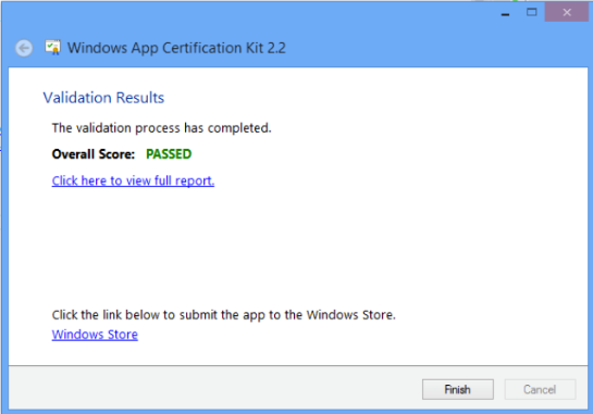 Certification Passed - Windows Store
